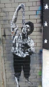 """Scugnizzo Graffiti"" Eating Pasta"