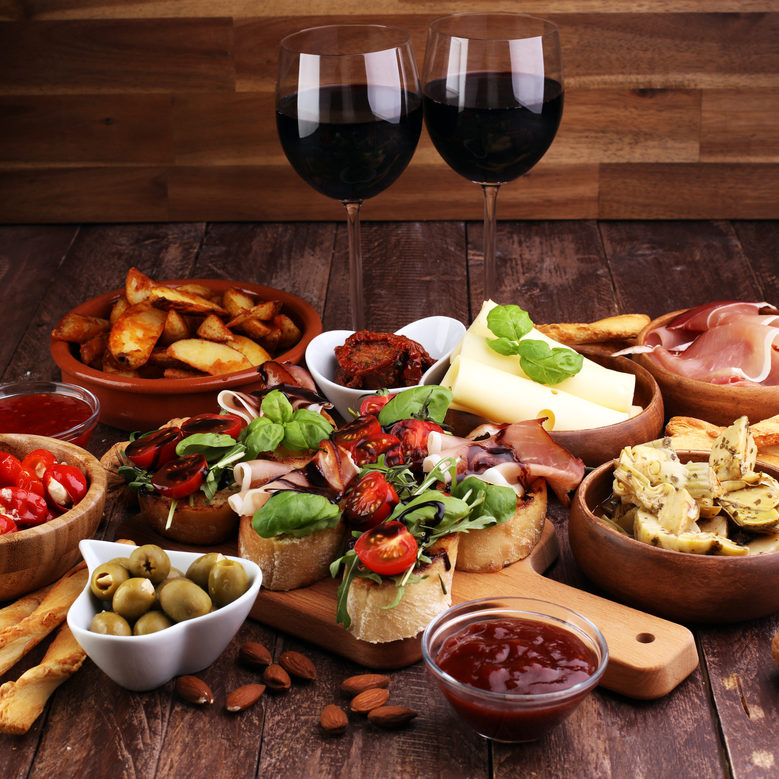 Italian Medley - Salumi - Cheese- Veggies & Wine